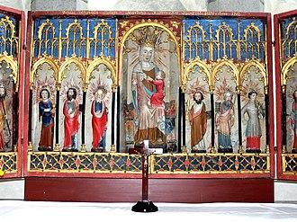 Lärbro Church - The unusual altarpiece