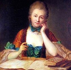 Inconnu, portrait de madame Du Châtelet à sa table de travail, détail (château de Breteuil) -002.jpg
