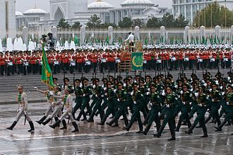 Independence Day (Turkmenistan) - Honor guard in Ashgabat.