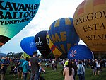 Inflation of balloons at the 2016 Canberra Balloon Spectacular.jpg