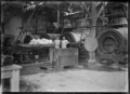 Inside a butter factory at Waitoa, near Te Aroha, 1921 ATLIB 311954.png