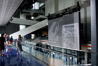 Newseum - The Barco screen displays historical images and breaking news from around the world.