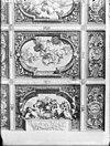 interieur, zoldering zaal staten generaal naar een gravure van d. marot -