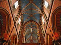 Interior of St. Mary basilica (Kraków, Poland 2014) (14322008304).jpg
