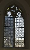 interrieur kapel, spitsboogvenster met glas-in-lood - maastricht - 20335374 - rce