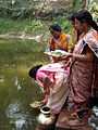 Inviting Goddess Ganga - Hindu Sacred Thread Ceremony - Simurali 2009-04-05 4050063.JPG