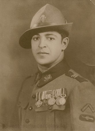 Ioan Dimăncescu - Captain Ioan Dem. Dimǎncescu from the Mountain Troops (RO: vânǎtori de munte), 1925