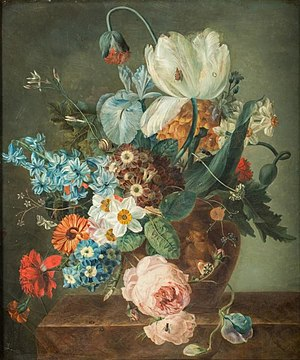 Iphigénie Decaux-Milet-Moreau - Flowers in a vase