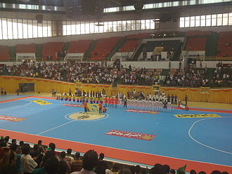 Iran national futsal team - Iran national futsal team plays against Brazil in a friendly match
