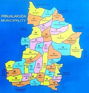 Irinjalakuda - Irinjalakuda Municipality Map