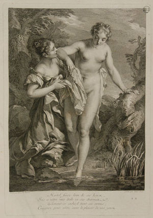 Laurent Cars - Iris at the bath, 1731, after Lemoyne.