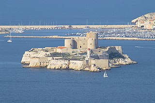 Château dIf Fortressa and prison near Marseille, France