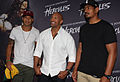 Israel Folau, Dwayne Johnson, Will Skelton 2014.jpg