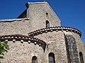 Issy-l'Évêque (Saône-et-Loire), chevet de l'église.JPG