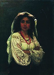 Italian woman by Repin.jpg