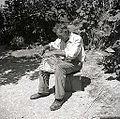 Ivan Sever, Budanje, plete iz leskovih viter naroč?n koš - majhen, za otroke 1958 (3).jpg