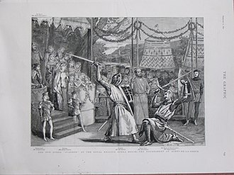 Ivanhoe (opera) - Illustration of scene from Ivanhoe in The Graphic, 1891