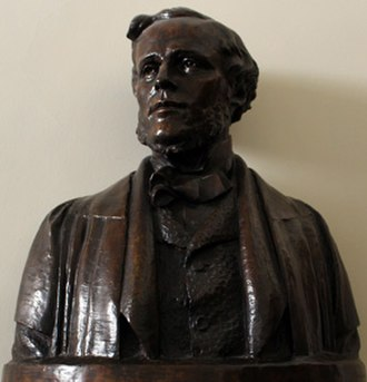 James Clerk Maxwell Foundation - Bust of James Clerk Maxwell on display at Maxwell's birthplace