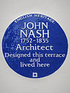 JOHN NASH 1752-1835 Architect Designed this terrace and lived here.jpg