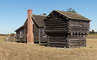 Ebey's Landing National Historical Reserve - Image: Jacob & Sarah Ebey House and Blockhouse