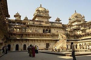 English: Jahangir Mahal, Orchha, Madhya Prades...