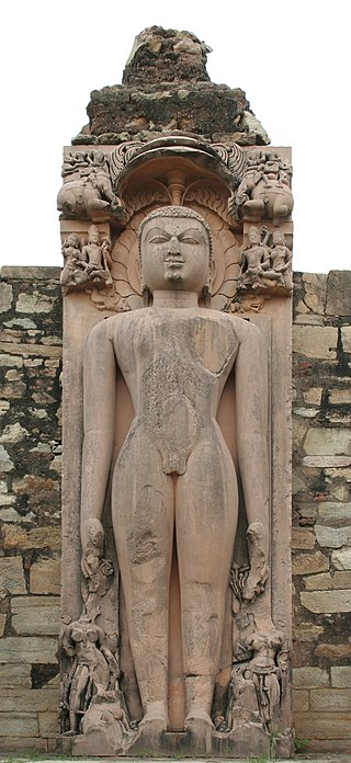 Jain statue of Parshvanath, Naugaza temple, Alwar district, Rajasthan, India, IMG 1937.jpg