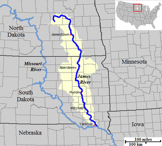 James River (Dakotas) - Image: James Course Watershed 1