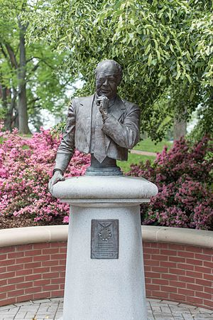 James Farmer - Bust at the University of Mary Washington in Fredericksburg