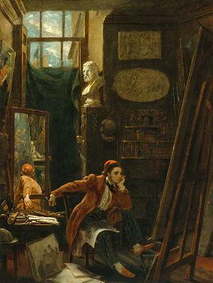 James Sant - Image: James Sant Selbstporträt 1844