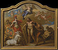 James Thornhill - Allegory of the Power of Great Britain by Land, design for a decorative panel for George I's ceremon... - Google Art Project.jpg