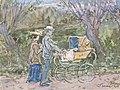 Jan Toorop - Mies Drabbe en Paul Ewout achter de kinderwagen.jpg