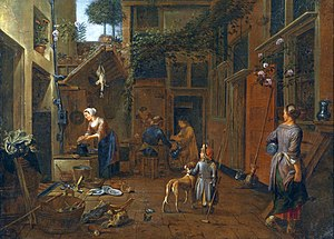 Jan van Buken - Courtyard with kitchen