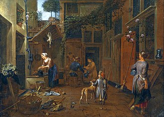 Jan van Buken - Courtyard with kitchen