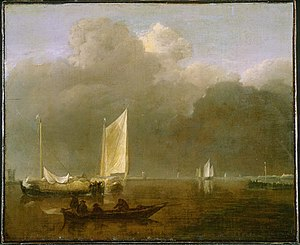 Jan van de Cappelle - Calm at the Mouth of a River.jpg