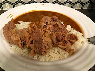 Japanese curry - Japanese curry rice with shredded beef in Singapore