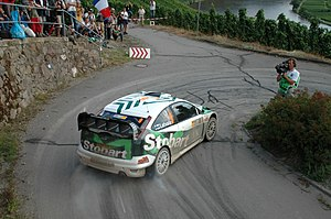 Jari-Matti Latvala driving his Ford Focus RS W...