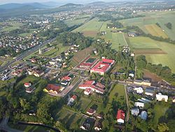 Village's centre from air