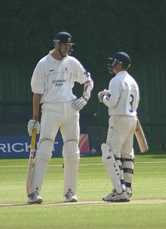 Grant Flower - Flower (on the right) with Essex team-mate Will Jefferson.