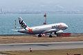 Jetstar Japan ,GK152 ,Airbus A320-232 ,JA04JJ ,Arrived from Sapporo ,Kansai Airport (16624141879).jpg