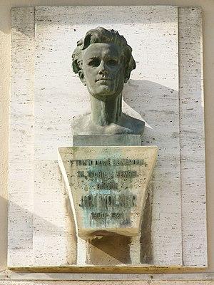 Jiří Wolker - Bust of Jiří Wolker at home of his birthplace in Prostějov