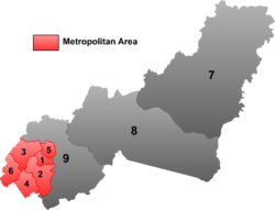 "Location of Fularji (""5"") within Jixi City"