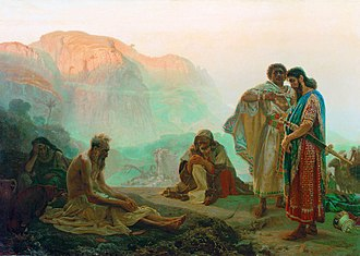 Job (biblical figure) - Job and His Friends by Ilya Repin (1869)