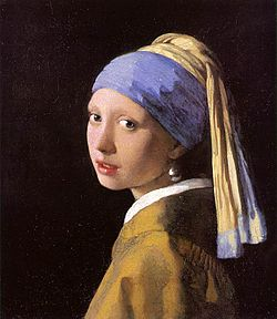 Johannes Vermeer - Girl with a Pearl Earring (1660s) after restoration (802 × 923).jpg