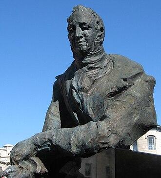 Guelph - Bust of John Galt, downtown Guelph