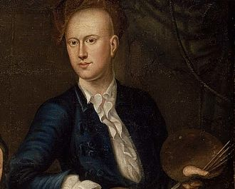 John Greenwood (artist) - Self-portrait of John Greenwood, from his painting The Greenwood-Lee family