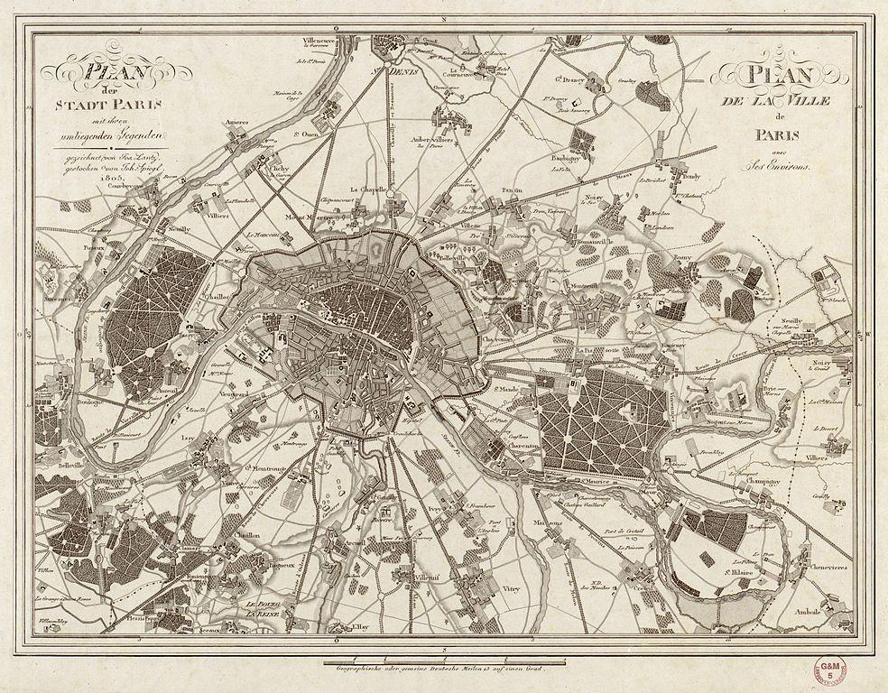 file jos lantz plan de la ville de paris avec ses environs wikimedia commons. Black Bedroom Furniture Sets. Home Design Ideas
