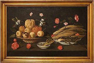 Still life with fruit, vegetables and flowers