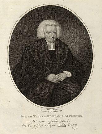 Josiah Tucker - 18th century engraving of Josiah Tucker