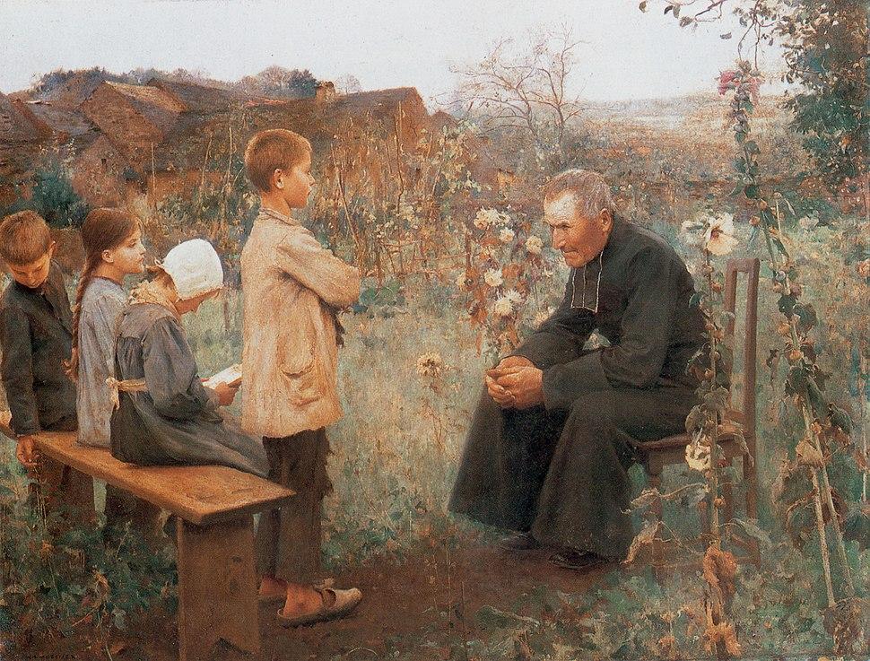 Jules-Alexis Muenier - La Leçon de catéchisme
