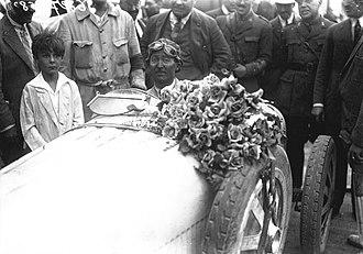 1926 San Sebastián Grand Prix - Winner Jules Goux